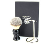 Luxury Shaving Brush With Synthetic Hair & Stainless Steel Made Brush Stand. Perfect For Him.