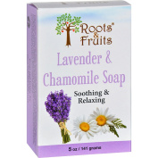 Roots and Fruits Bar Soap - Lavender and Chamomile - 150ml -