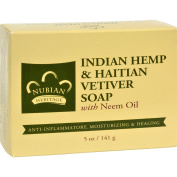 Nubian Heritage Bar Soap Indian Hemp And Haitian Vetiver - 150ml -
