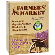 Farmer's Market Natural Bar Soap Lavender Eucalyptus - 160ml -