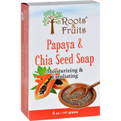 Roots and Fruits Bar Soap - Papaya and Chia Seed - 150ml -