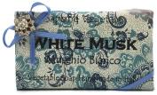 Alchimia Jewelled White Musk Vegetable Soap Handmade In Italy - 310ml Soap Bar