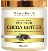 Cocoa Butter from Botanic Hearth, 100% Pure & Natural, Processed Premium Grade A, 240ml