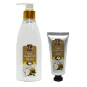 Virgin Coconut Oil Body & Hand Moisturiser (Promotion Pack, free Hand & Nail Cream) buy 1 free 1, organic virgin coconut oil, shea butter, natural moisturiser