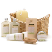 Spa Set, Best Holiday Spa Gift Basket For Women Lemongrass Eucalyptus Spa Basket