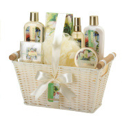 Gift Baskets Spa, Minted Jasmine Scented Luxury Bath Spa Set