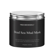Miss Flora Dead Sea Mud Mask Facial Cleanser(260ml/ 250g) - 100% Natural Facial Dead Sea Mud to Minimise Pores, Acne Treatment,Skin Face Facial Mask
