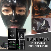 Blackhead Remover Mask, TONSEE Deep Cleansing Acne Black Mud Face Mask, Blackhead Peel-off Mask