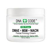 OIL FREE-MAGIC DMAE+MSM+NIACIN Firming Cream, 100% Pure Hyaluronic Acid, Argireline, Matrixyl 3000