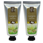 Lemongrass Hand cream (Promotional Pack, buy 1 free 1) from rice bran oil and shea butter with Lemongrass Aroma Herb scent from essential oils