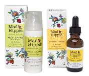 Mad Hippie Face Cream and Vitamin C Serum Bundle With Acai, Vitamin C and Argan Oil, 30ml Each