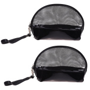COSMOS Multi-functional Clear PVC Vinyl Toiletry Travel Carry Cosmetic Makeup Bag with Detachable Strap, Zipper Closure