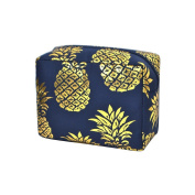 Southern Pineapple Print NGIL Large Cosmetic travel Pouch Gold Collection