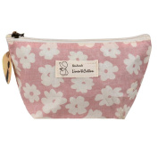Cosmetic Bag,Tosangn Folar Cherry Blossoms Travel Cosmetic Bag Make up Bag