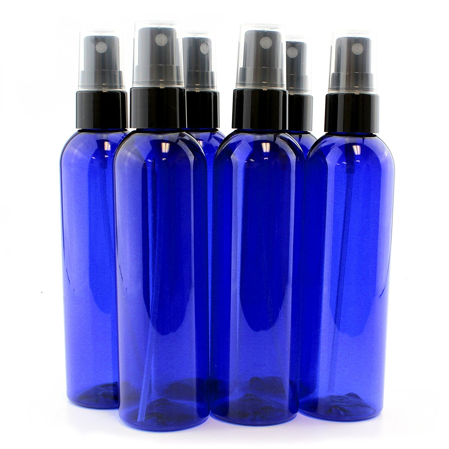 9ec68a093ca3 120ml Cobalt Blue Empty Plastic Refillable PET Spray Bottles with Fine Mist  Atomizer Caps (6-pack); for DIY Home Cleaning, Aromatherapy, Travel, ...
