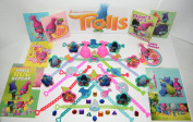 """Trolls Movie Toy Play Set of 48 with Troll Bracelets, ToyRings, Sticker Sheets and Special Troll """"Jewels"""" Featuring Princess Poppy, Branch and Many More!"""