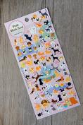 Kamio Petit Mark Seal Dog Flat Stickers (2 Sheets) - #46149