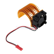 RC Car 540 550 3650 Motor Cover Heat Sink Cooling One Fan 1/10 Gold