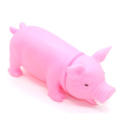 23cm Novelty Toys Pig Toy with Real Squeak, Assorted Colours