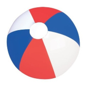 41cm RED, WHITE AND BLUE BEACHBALL / PATRIOTIC BEACH BALL