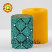 Cylinder rhombus 3D mould soap mould silicone moulds mould for soap mould candle mould silicone mould mould