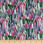 Landscape Medley Lupines Multi Fabric By The Yard