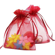 "100PCS Extra Large Organza Gift Bags13X18CM (5"" x 7"") Drawstring Pouches Jewellery Wedding Party Favour Gift Bags Candy Bags"
