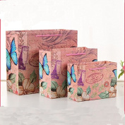Candyqueen 12Pcs Gift Bags Butterfly flower Shopping Bag Party Birthday Shopping Gift Paper Bag.