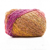 Celine lin One Skein Luxury Artist Painting Colourful Knitting Crochet Yarn 100g,Multi-colored05