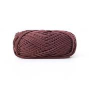 Celine lin One Skein Fancy Crochet Cloth Yarn Hand Knitting Rugs Woven Crocheted Basket Blanket Yarn 100g£¬Coffee