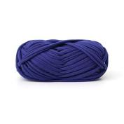 Celine lin One Skein Fancy Crochet Cloth Yarn Hand Knitting Rugs Woven Crocheted Basket Blanket Yarn 100g£¬Sapphire blue