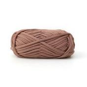 Celine lin One Skein Fancy Crochet Cloth Yarn Hand Knitting Rugs Woven Crocheted Basket Blanket Yarn 100g£¬Light coffee