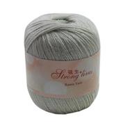 Celine lin One Skein Baby Soft Linen Yarn Breathable Flax Hand Knitting Yarn 50g,Light grey