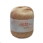 Celine lin One Skein Baby Soft Linen Yarn Breathable Flax Hand Knitting Yarn 50g,Flesh colour