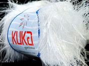 Kuka Jungle White Long Eyelash Yarn 50 Gramme