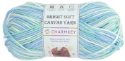 Charmkey Bright Soft Canvas Yarn 4 Medium Self Striping Lustrous 100 Percent Acrylic Mercerized 4 Ply Knitting Baby Yarn Ball for Sweater Garment Scarf Sock, 1 Skein, 100ml