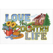 Love The Country Life Counted Cross Stitch Kit