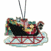 Vintage Sleigh Beaded Cross Stitch Kit Mill Hill Charmed Ornaments 2017 Sleigh Ride MH161732