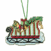 Toyland Sleigh Beaded Cross Stitch Kit Mill Hill Charmed Ornaments 2017 Sleigh Ride MH161733