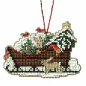 Woodland Sleigh Beaded Cross Stitch Kit Mill Hill Charmed Ornaments 2017 Sleigh Ride MH161735