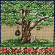 Summer Oak Beaded Counted Cross Stitch Kit Mill Hill 2017 Mighty Oak Quartet Series MH171713