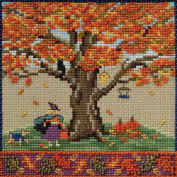 Fall Oak Beaded Counted Cross Stitch Kit Mill Hill 2017 Mighty Oak Quartet Series MH171714