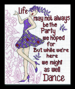 Dance Party Counted Cross Stitch Kit-8X10 14 Count