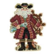 Jamaica Santa Beaded Counted Cross Stitch Christmas Ornament Kit Mill Hill 2017 Caribbean Santas MH201731