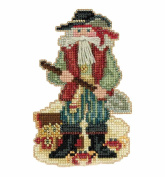 Barbados Santa Beaded Counted Cross Stitch Christmas Ornament Kit Mill Hill 2017 Caribbean Santas MH201733