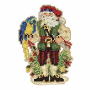 Trinidad Santa Beaded Counted Cross Stitch Christmas Ornament Kit Mill Hill 2017 Caribbean Santas MH201732