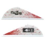 BOHNING Blazer VANES True Colour 5.1cm Blood Splatter 100Pk
