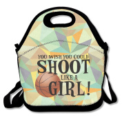You Wish You Could Shoot Like A Girl Polyester Lunch Bag