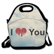 I Hate You Heartbroken Lunch Box Tote Bag