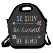 Be Silly Be Honest Be Kind Arrow Lunch Box Tote Bag